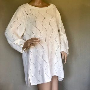 CHARTER CLUB IVORY PULLOVER COTTON 2X